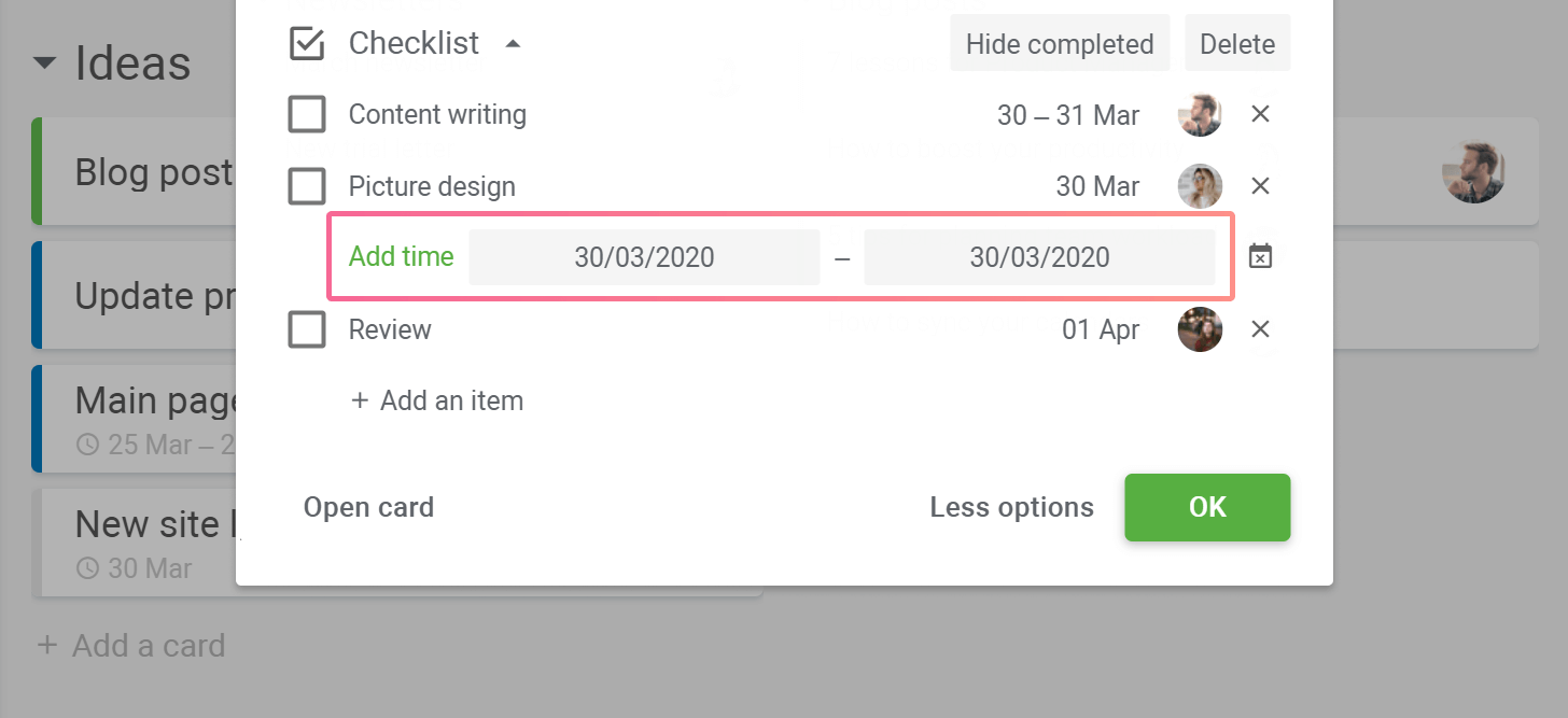 Planyway Added schedule item