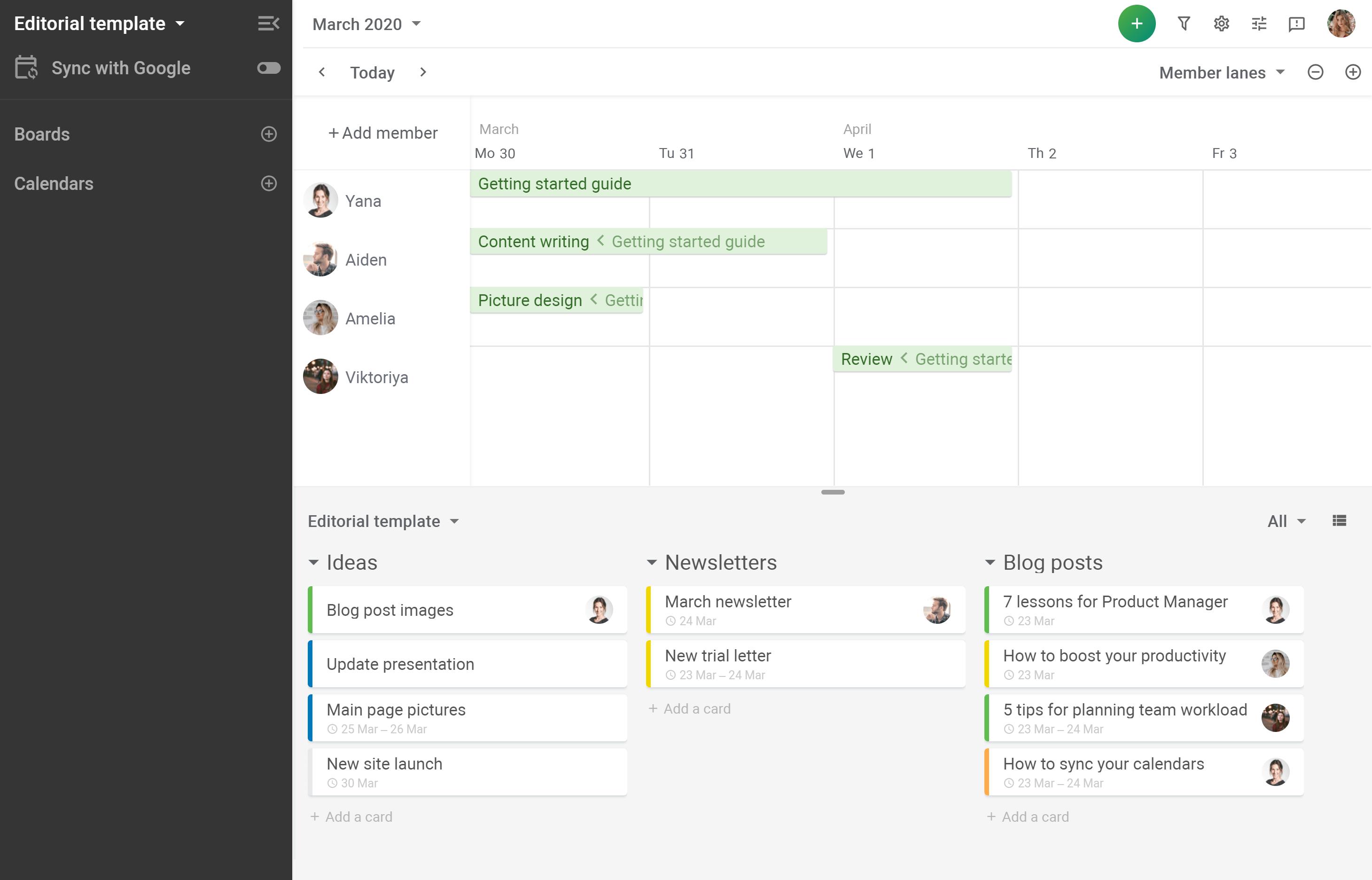 Planyway Schedule checklist items in calendar