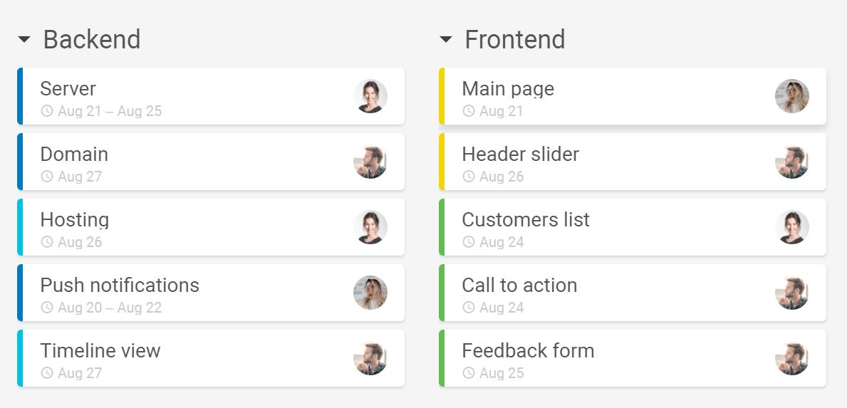 Project management create detailed plans