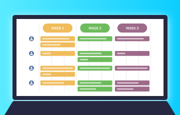How to use Planyway team calendar for agile weekly planning