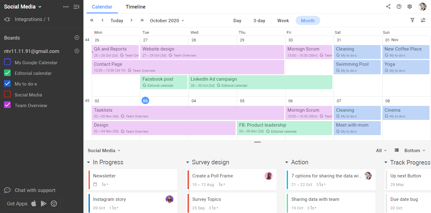 Planyway google connect calendars