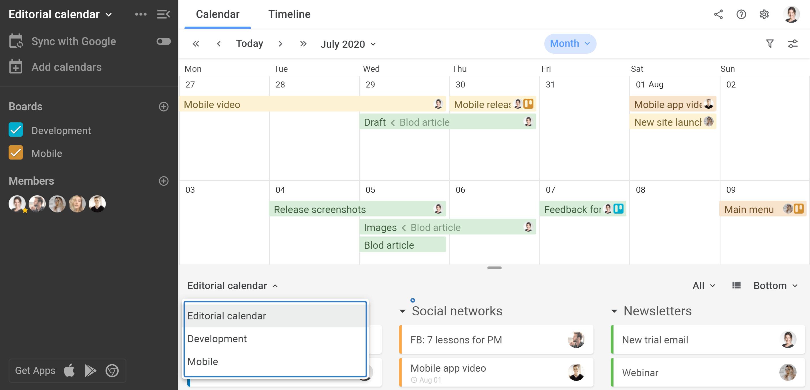 Planyway multi-board view taskboard filter