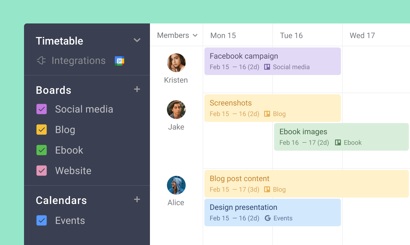 Visualize content work in a single view
