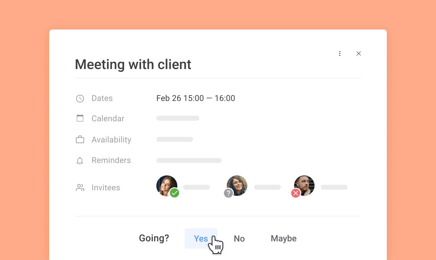 Schedule client meetings