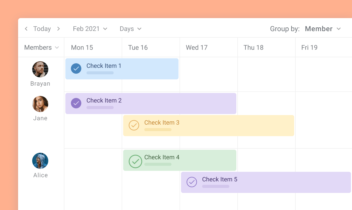 planyway vs trello timeline checkitems