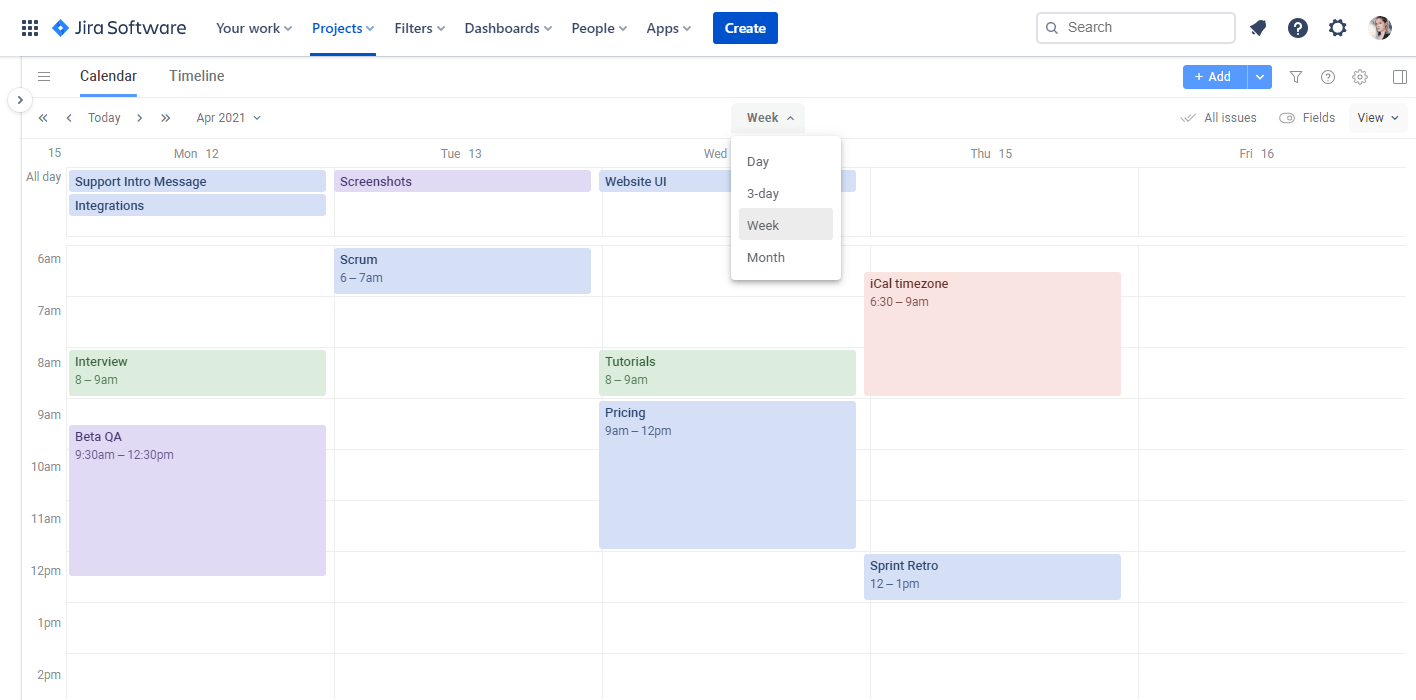 Planyway for Jira Cloud Guide Calendar View
