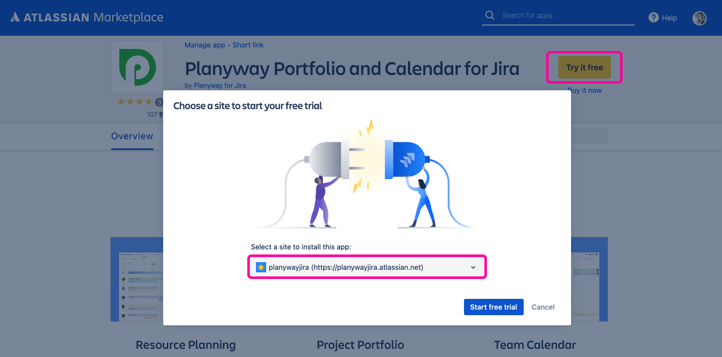 Planyway for Jira Cloud Guide Install Planyway App Marketplace
