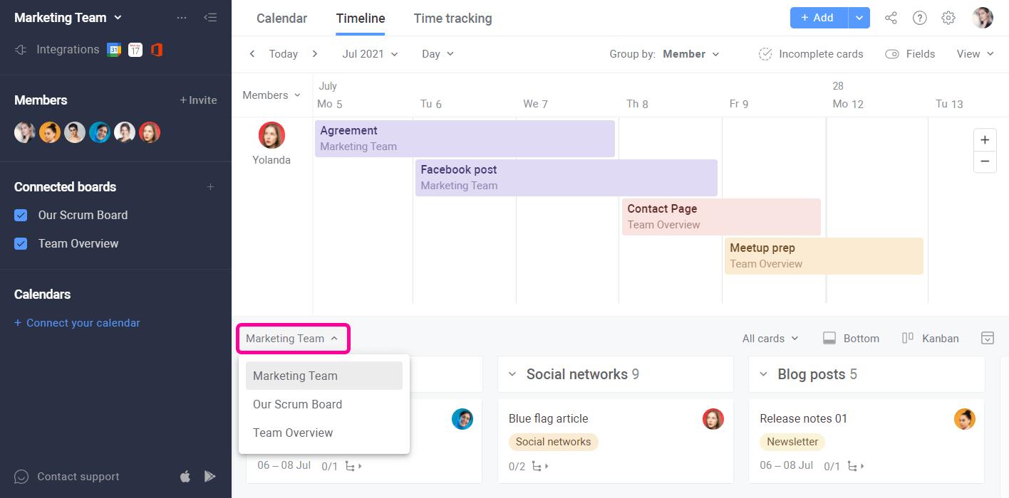 Planyway Multiboard Task Panel
