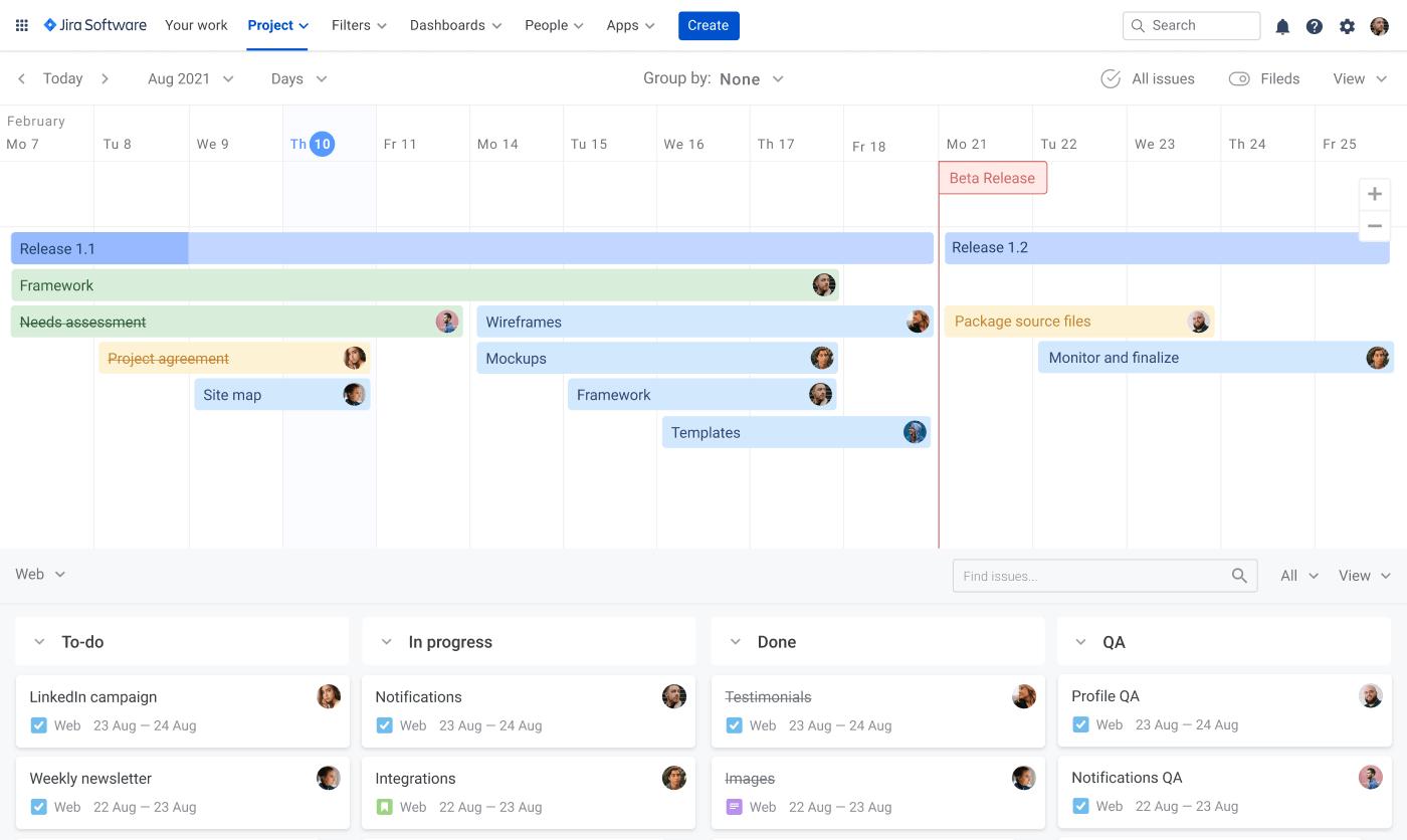 How to build Jira roadmap project roadmap