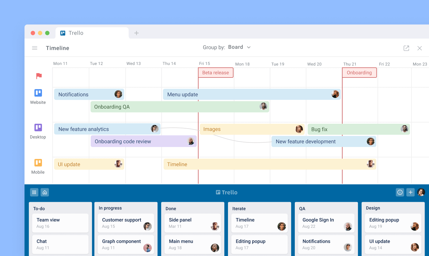 Visual project planning with Planyway