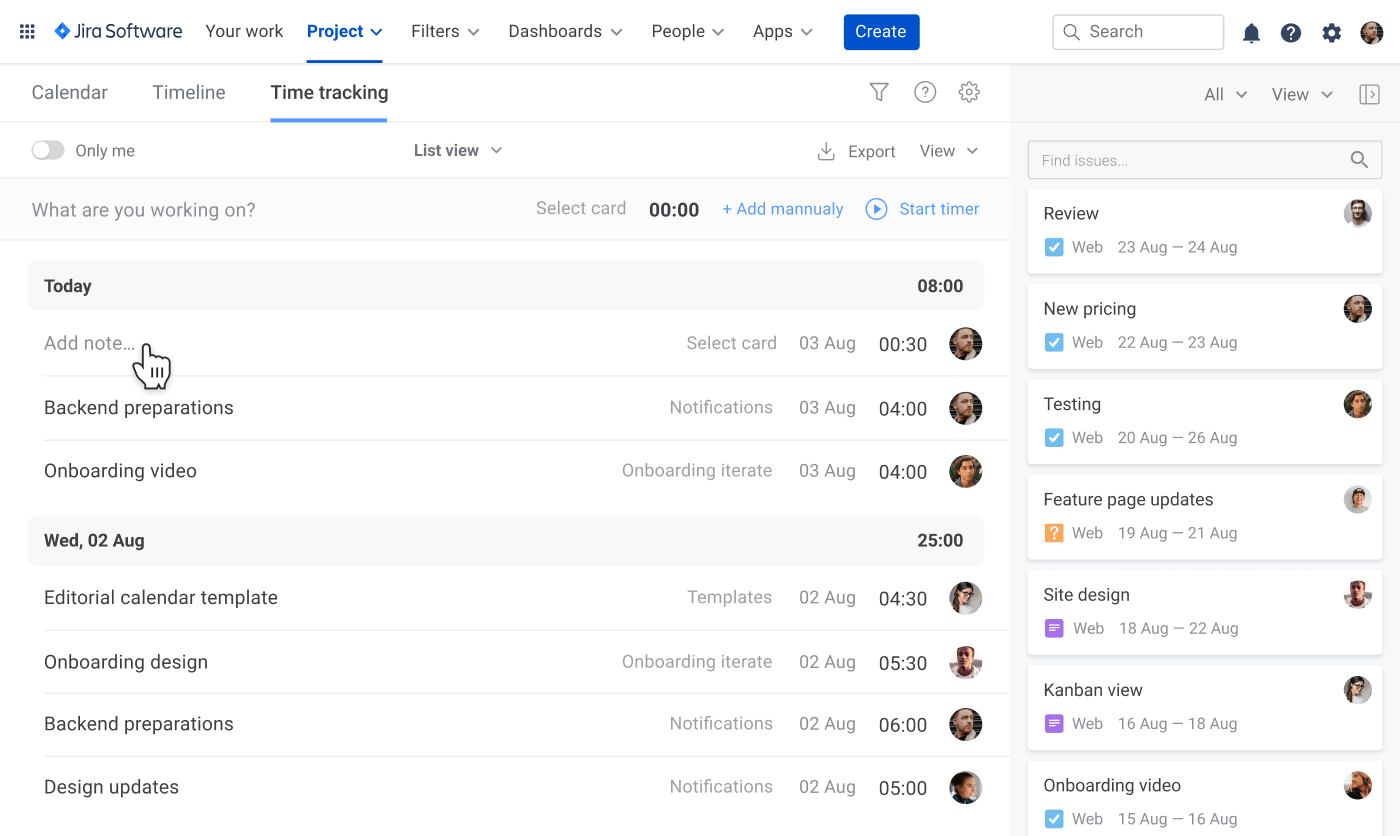 Guide to Jira resourse planning time tracking