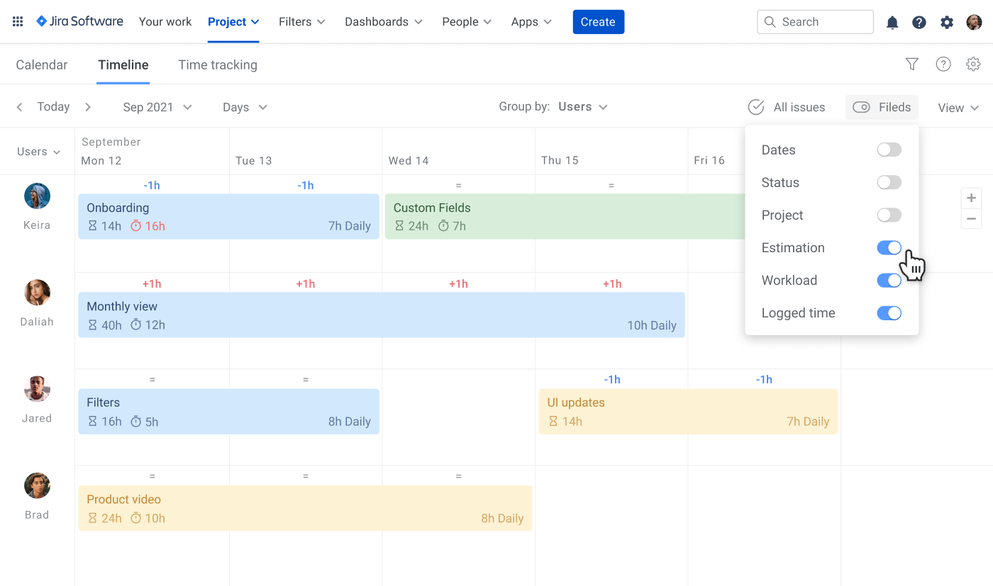 Guide to Jira resourse planning tracked and estimated time