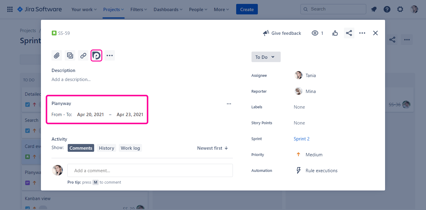 Planyway for Jira Cloud Guide Planyway Dates