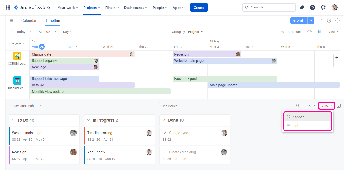 Planyway for Jira Cloud Guide Task Panel