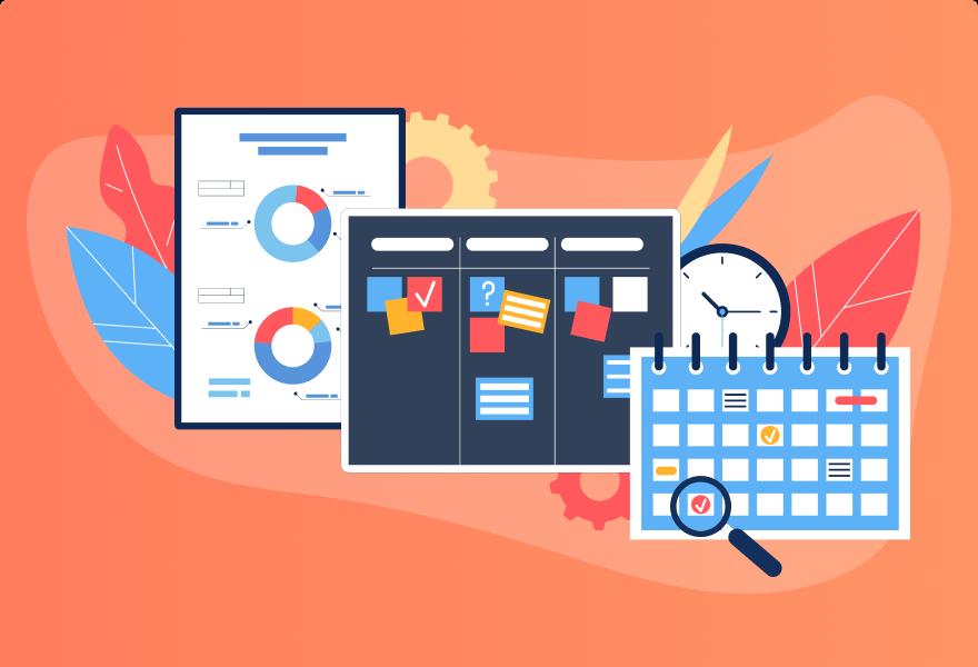 3 Visual Project</br>Management Options –</br>Timeline, Kanban,</br>and Calendar