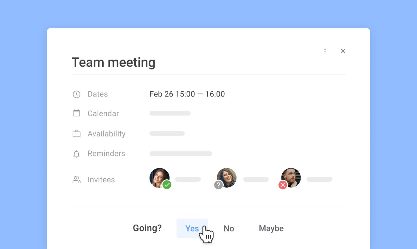 Meeting invitations