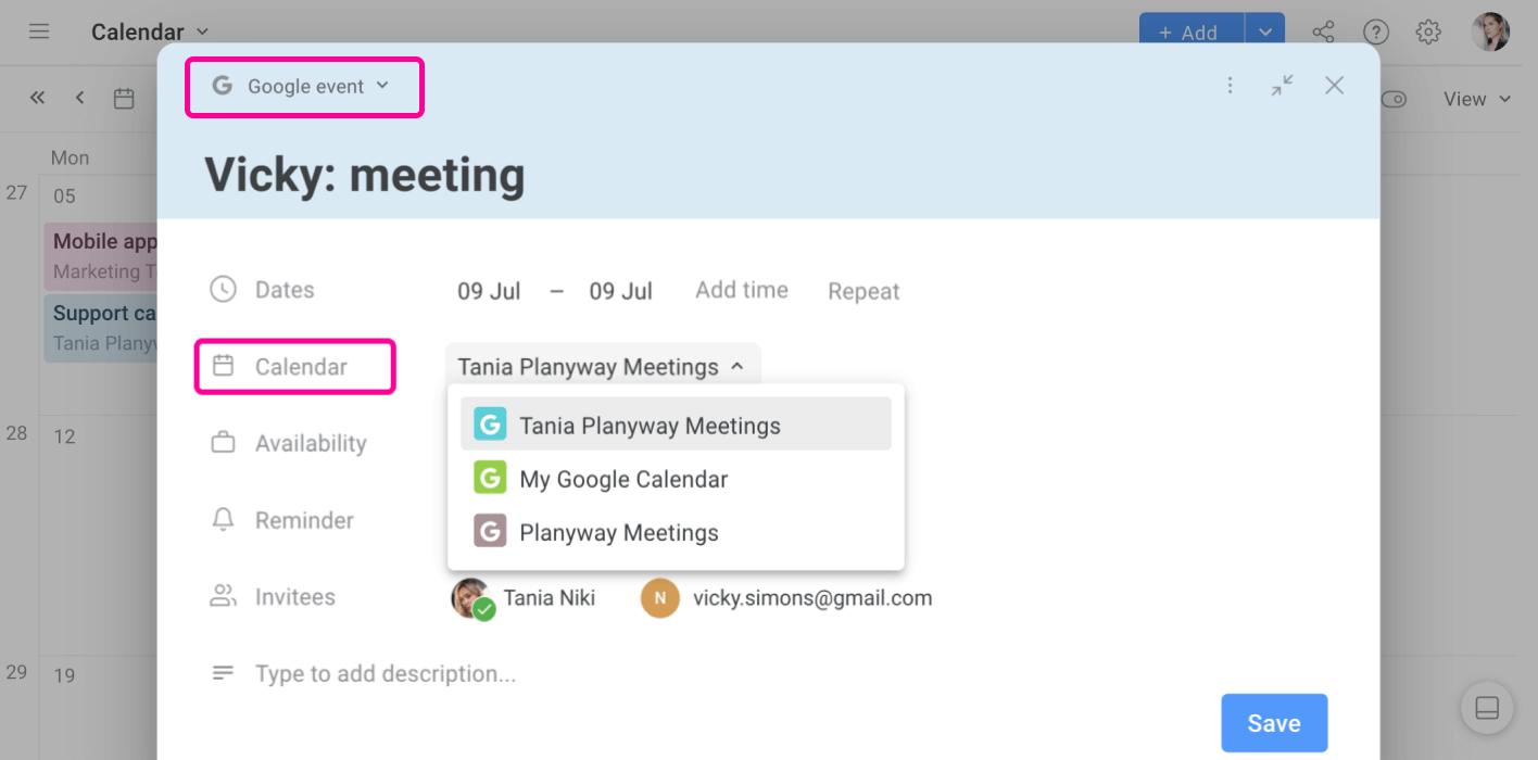 Planyway Google Calendar Integration Add Google Event