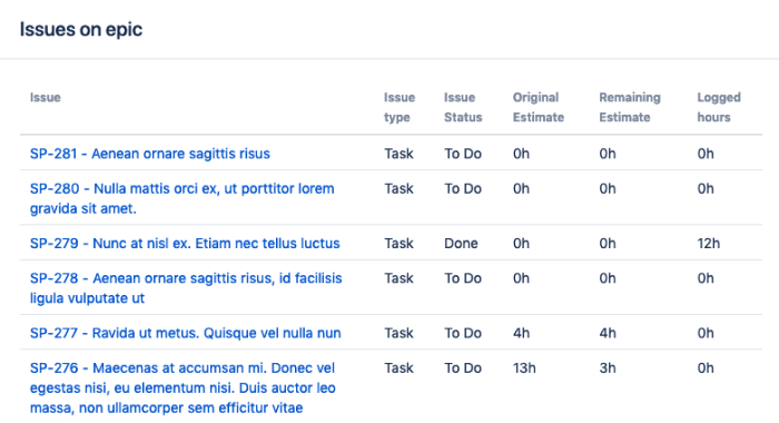 Time Tracking Ultimate Jira Guide Epic Time Tracking
